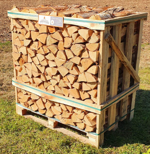Kiln Dried Birch Logs – Standard Crate
